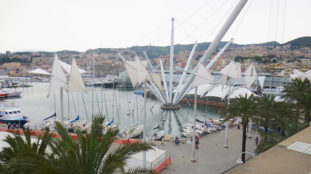 Il Marin, veduta sul porto di Genova